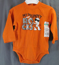 "Okie Dokie 6-9 Month, ""My Mummy Rocks"" LS Body Suit New with Tags"