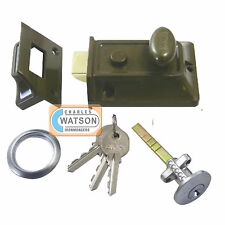 ERA 133-81 60mm Traditional Door Lock Brass Cylinder Nightlatch Night Latch