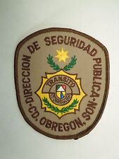 Vintage Mexico Direccion De Seguridad Publica C.D Obregon Son Transito Patch