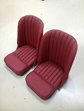 Pair of Fully Trimmed Tilting Bucket Seats for Jaguar XK120 XK140 XK150