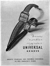 ▬► PUBLICITE ADVERTISING AD UNIVERSAL Montre Watch 1949
