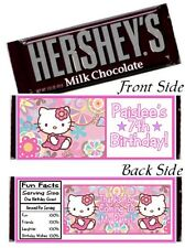 12 Hello Kitty Birthday Party Or Baby Shower Candy Hershey Bar Wrapper Favor