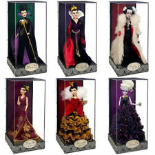 Disney Designer Villains Ursula Queen of Hearts Maleficent Doll set ALL 6 #618