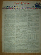 VINTAGE CUNARD CRUISE TOPICS OF THE HOUR JULY 25th 1934 RMS SAMARIA