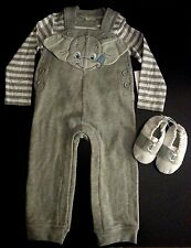 Infant boys 18-24 months 3 piece Disney Baby gray Dumbo outfit, w/ shoes. NWT
