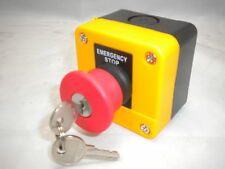 EMERGENCY STOP STATION KEY RELEASE RESET  TWIST BUTTON DANGER YELLOW SAL-J184