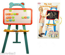 A to Z LEARNING EASEL CHALK BOARD & WHITE BOARD WITH MAGNETIC LETTERS BRAND NEW