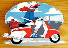 Scooter Clock, Scooter Wall Clock, SX LI TV GP Scooter Clock, Mod Scooter Clock