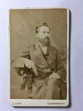 Victorian Carte De Visite CDV Photo: Gentleman: J Lowe: Loughborough