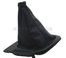 Fits 94-98 Nissan Silva 240SX S14 Real Leather Manual Shift Boot-Black