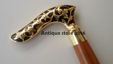 Antique Wood Walking Stick Nautical Victorian Shape Design With Cane 36 Inches.