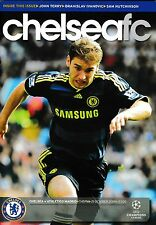Football Programme CHELSEA v ATLETICO MADRID Oct 2009 UCL