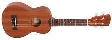Laka VUS50EA Electro-Acoustic Soprano Ukulele Uke 4 String Mahogany - Brand New!