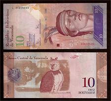 World Paper Money - Venezuela 10 Bolivares 2009 Series L8 @ Crisp UNC