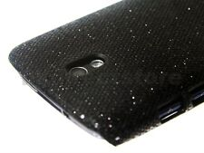 Black Sparkling Glitter Back Case Cover for HTC Desire 500 + Screen Protector