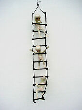 3 ALIEN on Rope Ladder Playing Climbing Statue Sculpture UFO ET Space