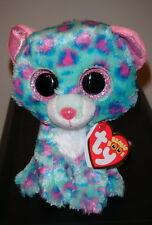 "Ty Beanie Boos - SYDNEY the 6"" Claires Exclusive Leopard ~ 2015 NEW MINT IN HAND"