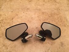 bar end mirrors 7/8 Cafe Racer Naked Moto Motorcycle