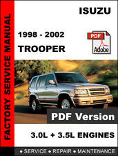 ISUZU TROOPER 1998 - 2002 FACTORY OEM SERVICE REPAIR WORKSHOP SHOP FSM MANUAL