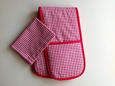 Toy oven gloves home corner play toy kitchen Small Red Gingham   Country Style