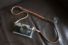 Handmade Real Leather camera strap neck strap for film camera EVIL camera 01-084