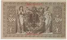 Beautiful 1910 1000 Mark German Currency Note in 9 + Condition