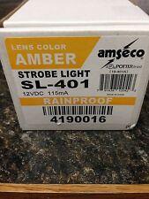 """SL-401 Amseco """"Amber"""" Strobe Indoor/Outdoor Rainproof 12VDC Ademco"""