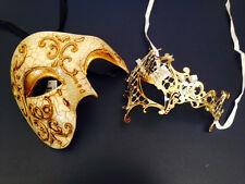 Gold Venetian Crystal Masquerade Prom Dance party Phantom Opear Mask female male