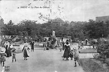 GUERRE 14/18 CARTE POSTALE BREST CACHET DEPOT RECEPTION CHEVAUX ETRANGERS 1915