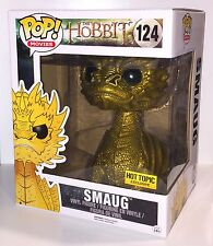 "Funko Pop Vinyl Figure Movies 6"" GOLD SMAUG 124 Hot Topic Exclusive Hobbit NEW"