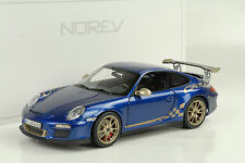 2010 PORSCHE 911 997 gt3 RS 3.8 AQUABLAU Metallizzato/Oro STRIPES 1:18 NOREV