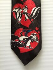 Pepe Le Pew Love Hearts Valentines Sweetheart Necktie FUN COLORFUL Tie N9
