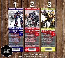 Transformers - Movie - Birthday Ticket Invitation - 20 Printed W/envelopes