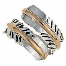 Best Selling Navajo Sterling Silver and Gold Feather Wrap Ring