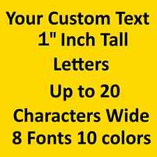 """1"""" Custom Vinyl Lettering Personalized Text for Car Wall Laptop Sticker Decal"""