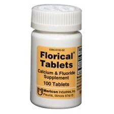 Florical Calcium and Fluoride Supplements Tablets 100 ea (Pack of 7)