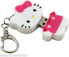 Hello Kitty USB Flash Drive 4GB Key Chain Portable Thumb Flash Jump Drive New