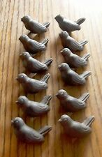 Set-12 Cast Iron- Bird Drawer Pull W/Screws  Cabinet Door Knob CRAFTS Brown