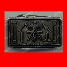 SWISS PEWTER STYLE MASONIC ARMY KNIFE MONEY CLIP,MASON,FREEMASON MASTER GIFT! EX