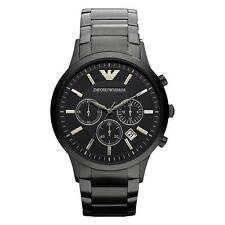 Emporio Armani Classic Gent's Black Stainless Steel Chronograph Watch 2453