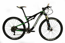 "L 19"" STRADALLI CYCLE 29er CARBON FIBER DUAL SUSPENSION XC BIKE MTB FRAME REL"