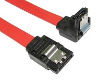 LONG Right Angle SATA Data Cable Serial ATA 3GB Lead Locking Clips 90cm/1m S-RA