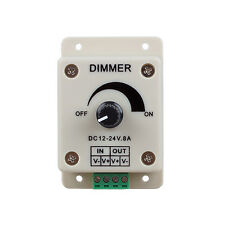 PWM Dimming Controller for LED Lights,Ribbon, Strip,12-24 Volt 8 Amp ZH