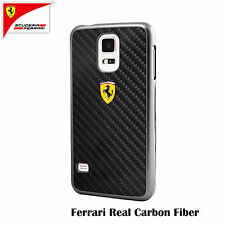 Scuderia Ferrari Real Carbon Fiber Hard Case for Galaxy S5 Black (FESCCBHCS5BL)