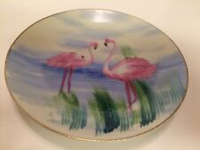 RARE vintage Pioneer Merchandise Co NY made in Japan plate with flamingos