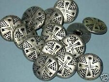 CroSSeD ARROWS Set 14 New Vintage Antiqued Silver Metal New picture Buttons 3/4""