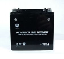 YTX14-BS Battery Suzuki LT-A400 LT-F400 Eiger King Quad Yamaha Raptor YFM660 NEW