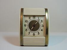 Vintage 1940's Westlox Rolltop Traveling Alarm Clock - Wind Up - Made in USA