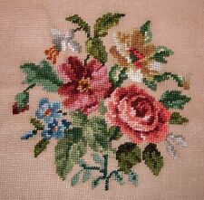 "EP 2370/2 Madeira Floral Rose Bouquet Preworked Needlepoint Canvas 23""x23"""