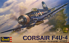 REVELL 1:48 SCALE USMC F4U-4 CORSAIR SINGLE ENGINE FIGHTER PLANE PLASTIC KIT